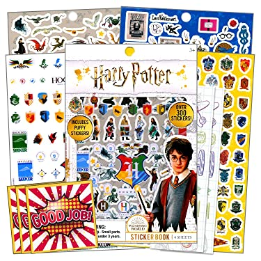 Harry Potter School Supplies for Kids Bundle Includes Specialty Separately Licensed GWW Reward Stickers and Bookmarks (Harry Potter Stickers)