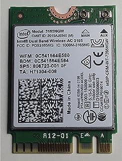 INTEL 双频无线模块 AC 3165 1x1 AC + BT M.2