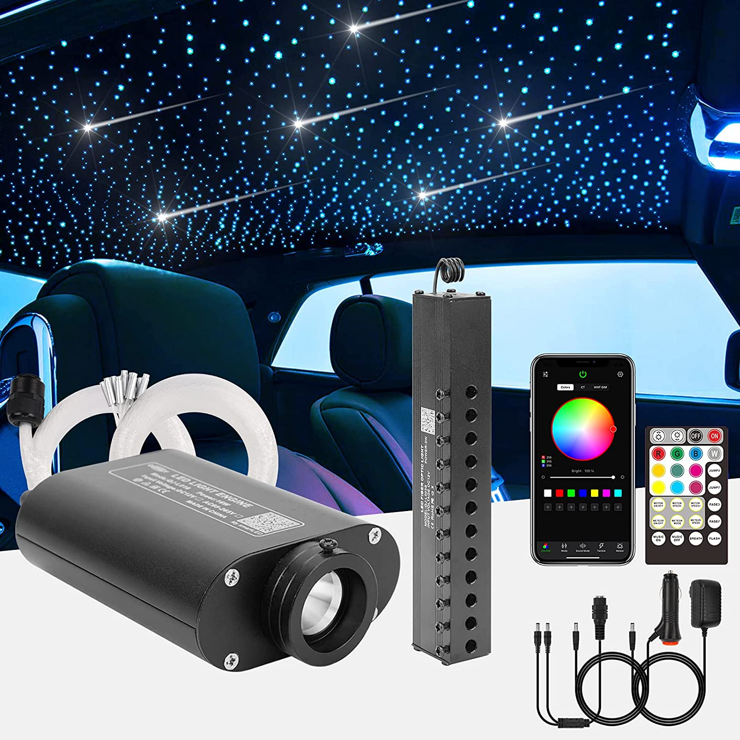 CHINLY Meteor Low price 16W 550pcs 0.03in 13.1ft RGBW Car LE Use Bluetooth Cheap mail order specialty store