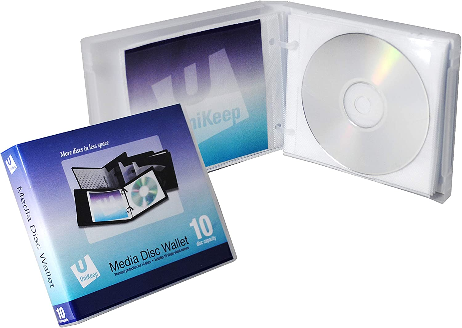 UniKeep Disc 10 CD/DVD Wallet with Pages (6.38