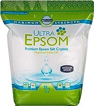 SaltWorks Ultra Epsom Bath Salt, Medium Grain, Unscented, 18 Pound Bag