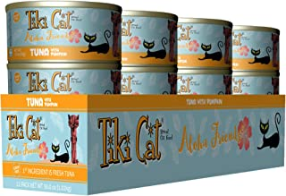 Tiki Cat Aloha Friends Grain-Free, Low-Carbohydrate Wet Food with Flaked Tuna for Adult..