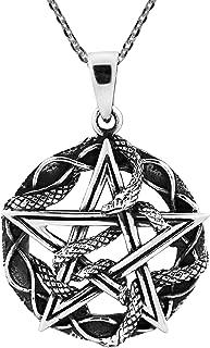 Best unique mens silver necklaces Reviews