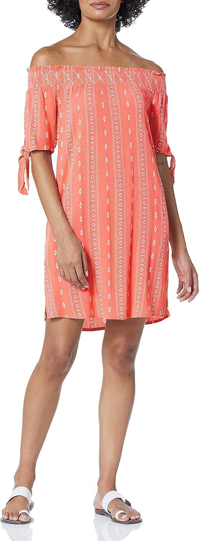 Tribal Women's Off Shoulder Dress W/Pockets