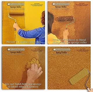 Sponge Painting Roller and Mini Faux Finish Sponge Painting Combo Set