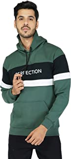 Urban Age Clothing Co. Men's Cotton Blend Heavyweight Fleece Printed Perfection Sweatshirt Hoodie for Winter Temperature 0...