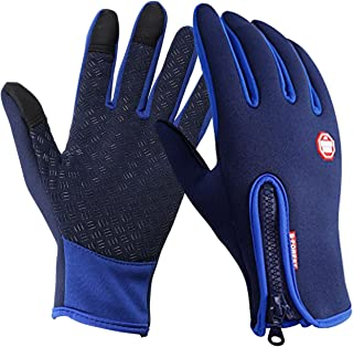 Speedrid Cycling Gloves, Touchscreen Water-Resistant Outdoor Sport Winter Bike Gloves, Ajustable Size Full Finger for Running Driving Skiing Skating Climbing