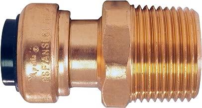Apollo Copper Push ACPM1234 1/2-inch Copper Push x 3/4-inch MPT Adapter