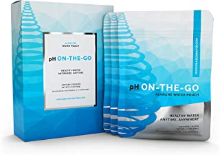 pH ON-THE-GO Alkaline Water Filter Pouch- Portable Alkaline Water Filtration System For Your Bottle, Pitcher, Jug, Container - High pH Ionized Water - Long-Life 105 Gallon/400 Litre (3-pack)