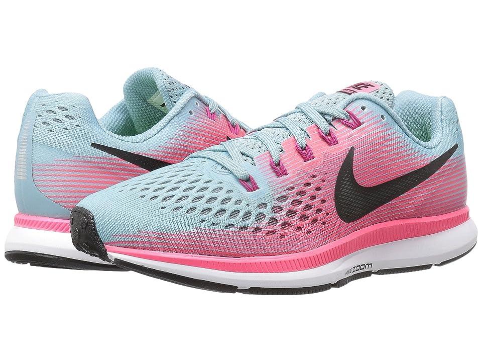 Nike Air Zoom Pegasus 34 (Mica Blue/White/Racer Pink/Sport Fuchsia) Women