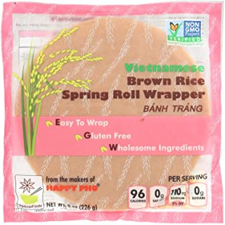 Star Anise Foods Spring Roll Wrapper - Brown Rice - Vietnamese - 8 oz - Case of 6 - Dairy Free - Yeast Free - Wheat Free-Vegan