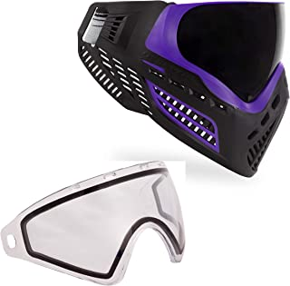 Virtue VIO Ascend Paintball Goggle and Virtue VIO Replacement Lens Bundle - Purple Smoke with Thermal Clear Lens