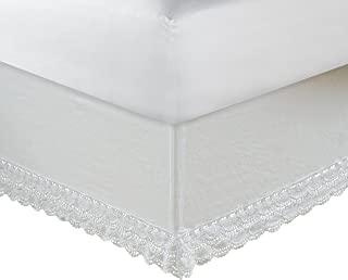 Greenland Home 18-Inch Crochet Lace Bed Skirt, Twin