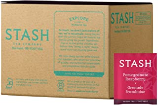 Stash Tea Pomegranate Raspberry Green Tea 100 Count Box of Tea Bags in Foil Individual Green Tea Bags for Use in Teapots M...