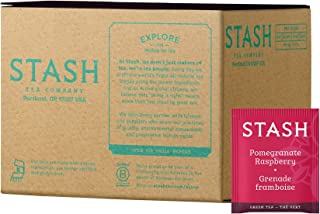 Stash Tea Pomegranate Raspberry Green Tea 100 Count Box of Tea Bags in Foil Individual Green Tea Bags for Use in Teapots Mugs or Teacups, Brew Hot Tea or Iced Tea