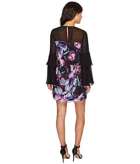 Camille Tiered Floral Sleeve Dress CeCe qOwRWdSq