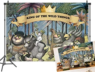 Qian Wild One 1st 2nd Birthday Party Photography Backdrops Animals Jungle Safari Theme Where The Wild Things are Party Decoration Photo Background Vinyl Banner Vinyl 7x5ft