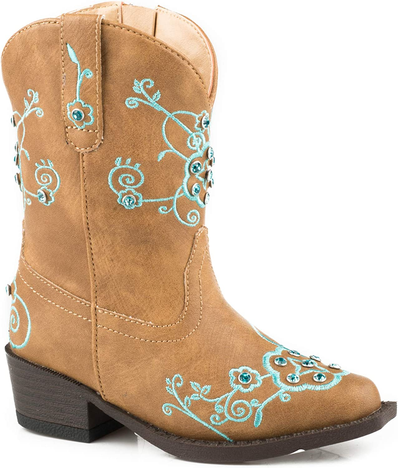 Brand new ROPER Toddler Flower Sparkles Toe Portland Mall Square Boots