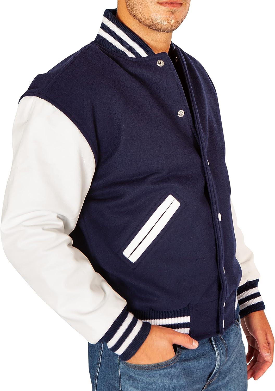 Letterman Jacket - Letter Jacket - Varsity Jacket - Wool & Leather - Blank