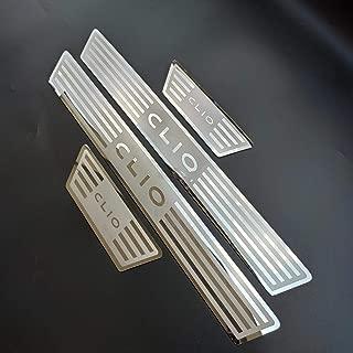 pour Nissan Juke MATBC 4 Pcs Seuils De Porte De Voiture Anti Scratch Fibre De Carbone Scuff Couverture De P/édale Autocollants Auto Porte Seuil Guards Accessoires