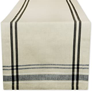 DII 100% Cotton, Machine Washable, Everyday French Stripe Kitchen Table Runner For Dinner Parties, Events, Decor 14x108