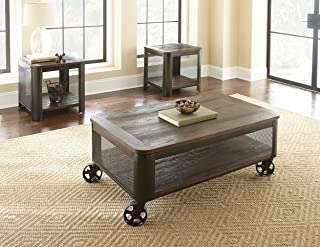 Steve Silver Barrow Lift Top Coffee Table with Casters in Mocha