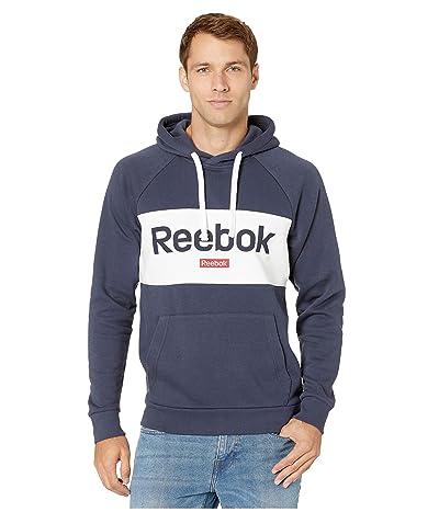 Reebok Training Essentials Big Logo Over The Head Hoodie (Heritage Navy) Men