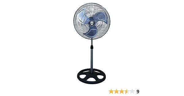 Negro Mate Ventilador Industrial 50cm m/áquina de Viento Brandson Ventilador de Suelo Estilo Retro 120 Watt inclinable y vers/átil Alto Flujo de Aire