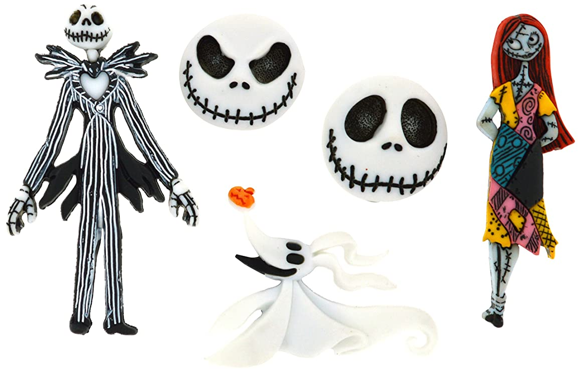 Dress It Up 7737 Disney Button Embellishments, Nightmare Before Christmas