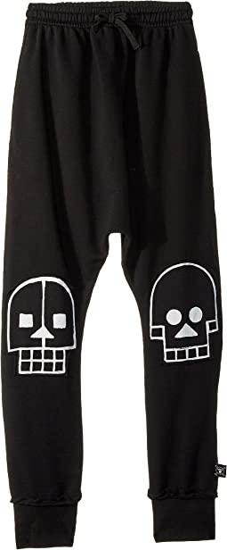 Skull Robot Patch Baggy Pants (Little Kids/Big Kids)
