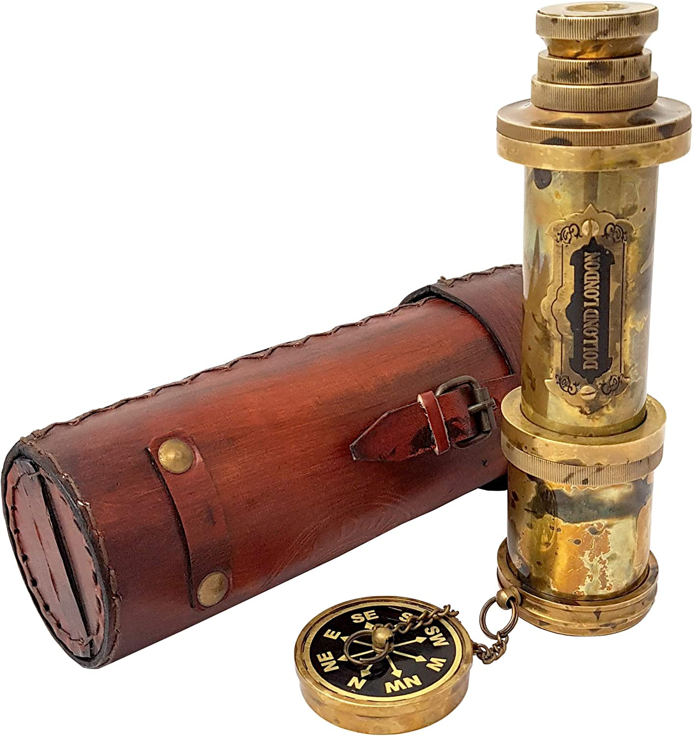 Brass Nautical OFFicial store - Functional Optic Telescope Made Max 86% OFF Glass