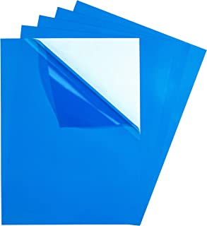 5 Pack - Adhesive Backed Transparency Rigid Vinyl Film, Sticky Back Plastic Sheets Color Filter, Self Stick Paper Overlay Sticker, 9
