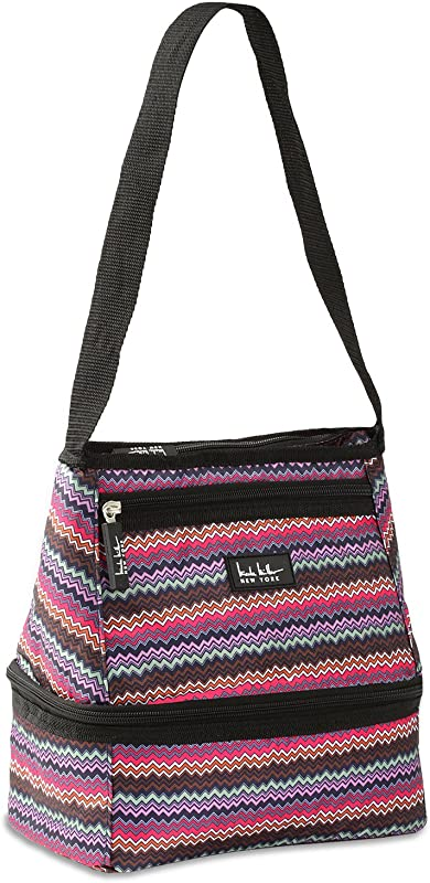 Nicole Miller Of New York Insulated Lunch Cooler Alyssa Pink 10 Lunch Tote