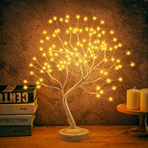 JOINTWIN Bonsai Tree Light for Room Decor,Fairy Lights Tree Lamp for Home Decoration,Adjustable Branches LED Artificial Lighted Birch Trees,USB & Battery Operated Christmas Tree with Lights,Gift Ideas