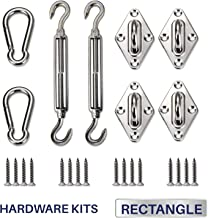 Windscreen4less Sun Shade Sail Hardware Kit - 6 Inches - Super Heavy Duty - For Square and Rectangle Sun Shade Sail