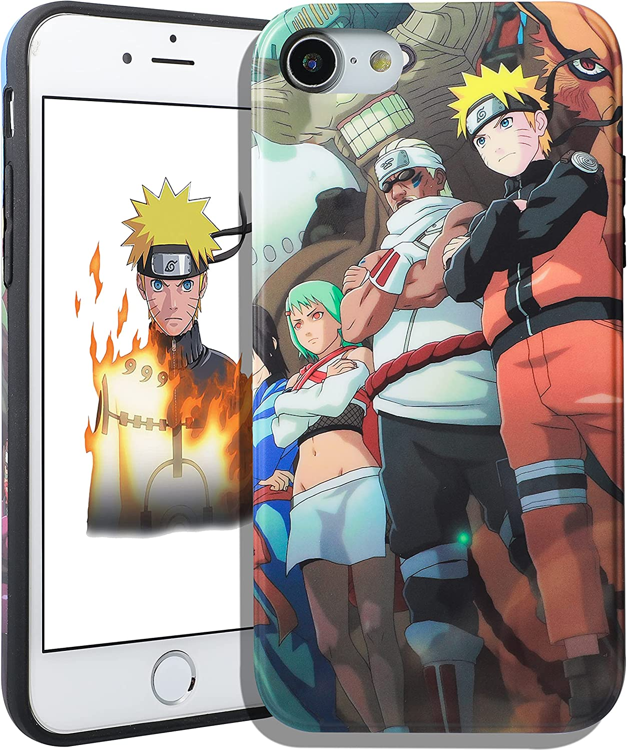 Jowhep for iPhone 7/8/SE 2020 Case Cover Cases Hard TPU Cartoon Anime 3D Funny Fun Design Character Unique Shell for Girls Boys Friends Men - Three People (for iPhone 7/8/SE 2020 4.7