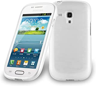 Cadorabo Case Works with Samsung Galaxy S3 Mini in Silver – Shockproof and Scratch Resistant TPU Silicone Cover – Ultra Slim Protective Gel Shell Bumper Back Skin