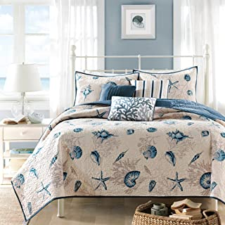 """Madison Park COVERLET&BEDSPREAD, King/Cal King(104""""x94""""), Blue King/Cal King(104""""x94"""") multicolored MP13-375"""