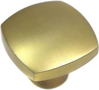 Laurey 74410 Square Cabinet Hardware Knob Aventura, 1 1/2-Inch, Champagne Bronze
