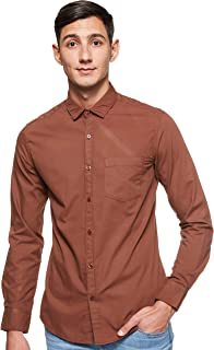 Amazon Brand - Symbol Men's Checkered Regular Fit Full Sleeve Cotton Casual Shirt