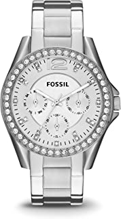 Fossil Women's Riley Stainless Steel Multifunction Glitz...