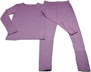 32 Degrees Heat Girls Long Sleeve Crew Neck and Legging Set Heather Fiction Fig X-Large