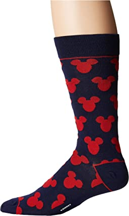 Cufflinks Inc. - Mickey Mouse Silhouette Blue Socks