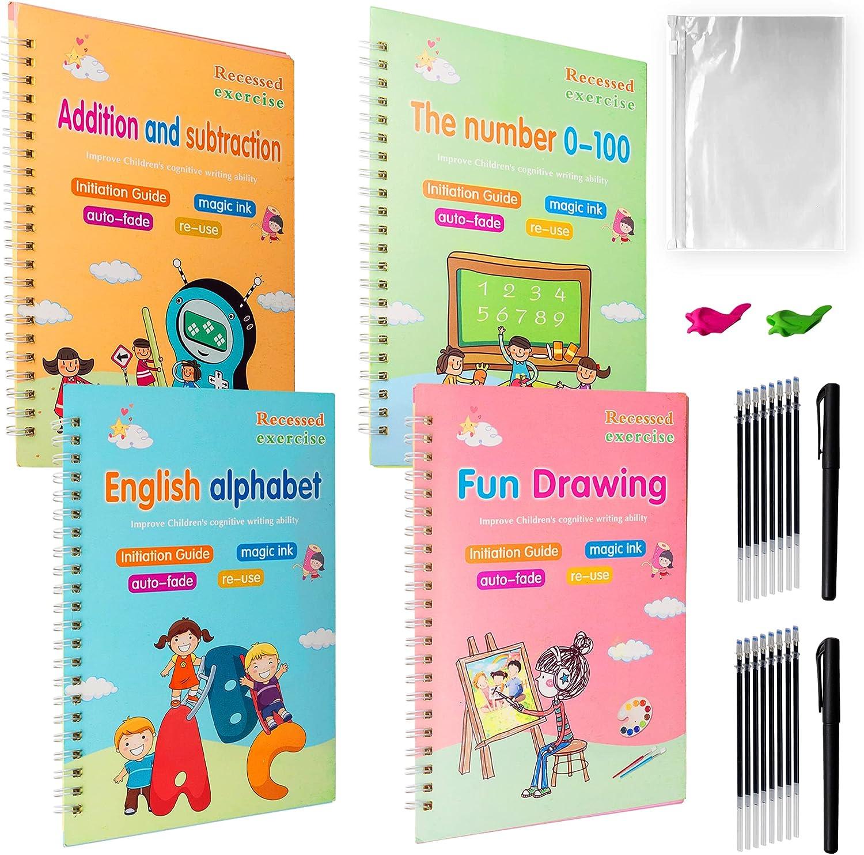 4 pc Magic Practice Copybook for Work Handwriting Baltimore Mall Kids Genuine