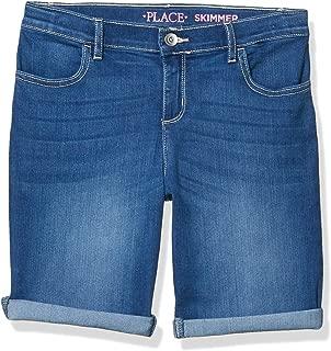 The Children's Place Girls Size' Plus Denim Skimmer Shorts