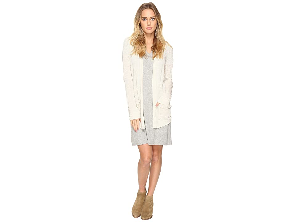 Three Dots Easy Cardigan (Natural/Ivory) Women