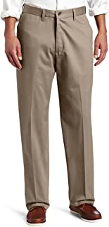 Lee Men's No Iron Relaxed Fit Flat Front Pant