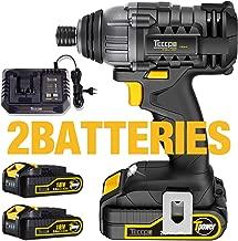 Atornillador de Impacto, TECCPO 180Nm Atornillador Batería 18V, 2×2.0Ah Baterías Li-Ion, 30min Cargador Rápido, 6.35mm Mandril Metal Autoblocante, (Ahorra 15€ con code: 25I9A6WS)
