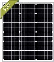 Newpowa 50W Mono Solar Panel 50 Watts Monocrystalline Module with 3ft MC4 Connectors for RV,Boat,Home Off Grid System