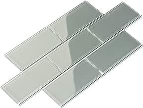 Best grey glass kitchen backsplash Reviews